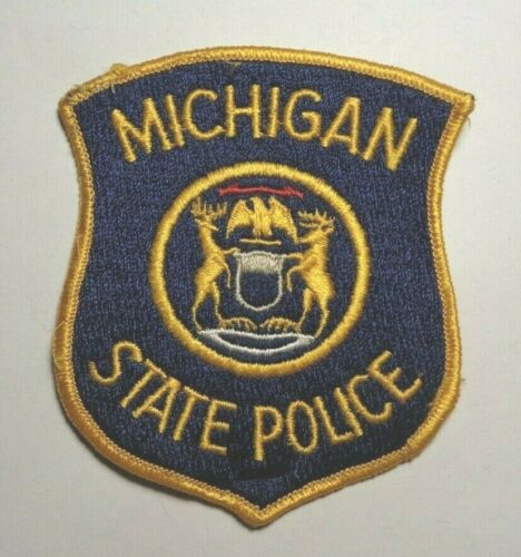 MICHIGAN STATE POLICE  EMBROIDERED POLICE PATCH