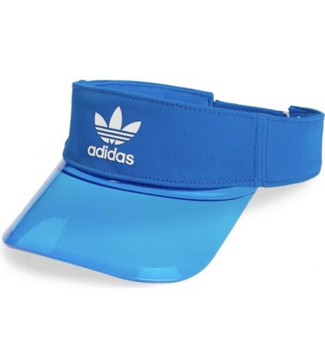 Adidas Originals Clear Blue Tinted Brim Visor NWT Transparent Trefoil Sun Hat - $20.00