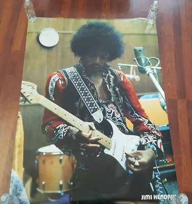 Jimi Hendrix Playing Guitar Graphic Art Poster Print 55  X 40  Big