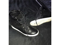 Black wedge trainers size 5 £10