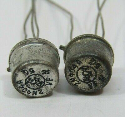 2n404a Rca Vintage Pnp Germanium Transistors To-5 Case 40v .15a Usa Seller