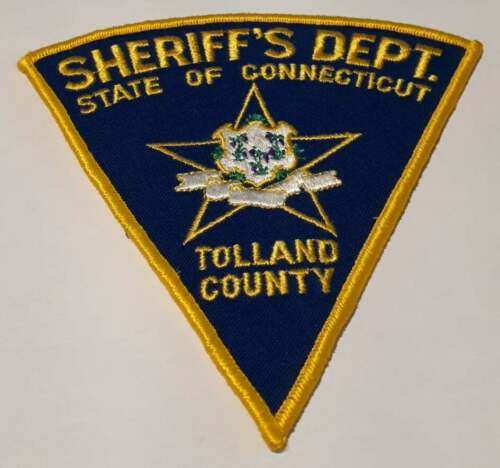 Tolland County Sheriff Connecticut CT Police Patch Vintage