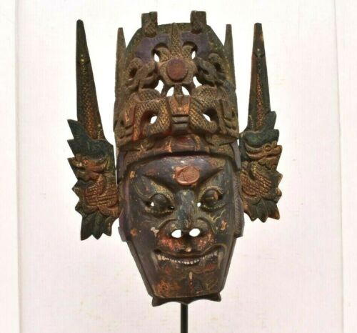 Fare Balinese Topeng dance mask Antique OLD Bali Indonesian Carved Wood