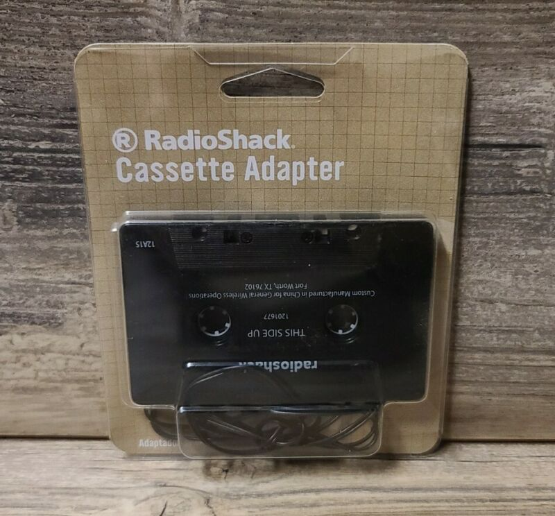 """RadioShack Cassette Adapter Connects MP3 OR CD PLAYER 1/8"""" 3.5mm PLUG"""