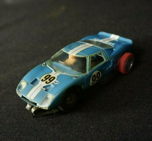 Vintage 1960's 1/32 Slot Car COX FORD GT Blue #99