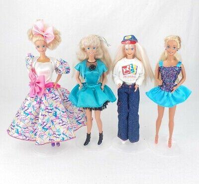 Set of 4 Mattel 80s Barbie Fashion Dolls! FAO Schwarz Speciel Edition Party RARE