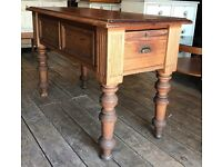 Victorian Antique Pitch Pine Kitchen Table
