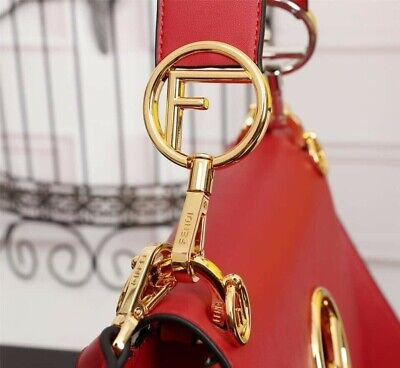 Women's Red Leather Purse Top Quality Crossbody