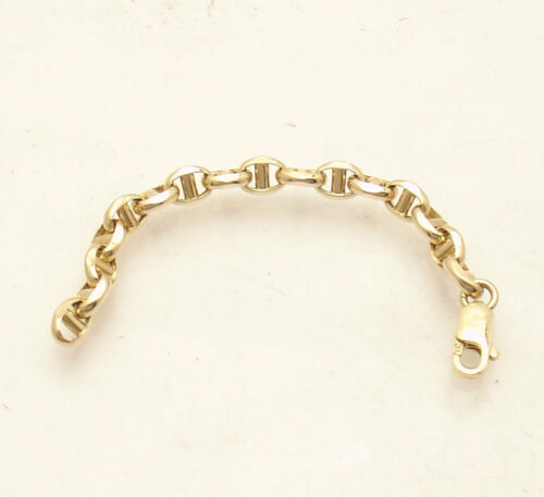 Anchor Mariner Chain Necklace Bracelet Extender Extension Real 14K Yellow Gold