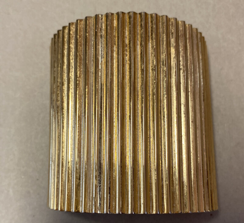 Gold Tone Barrette Pony Tail Holder Clip Made In France