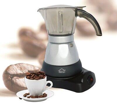 CAFFETTIERA CAFFETTIERE ELETTRICA DCG KA3339 KA 3339 3 TAZZE MOKA ELETTRICA