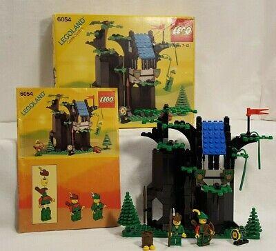 Vintage 1988 Lego Set #6054 Forestmen's Hideout: 100% complete w/box/instruction