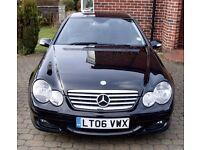 Mercedes C Class C220 2.1 CDI Diesel Automatic 2006 Black Car Cheap sale ready to go