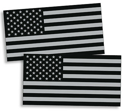 Black OPS Gray USA Flag Sticker American Military Car Truck Decal Subdued Helmet - Gray Car Flag