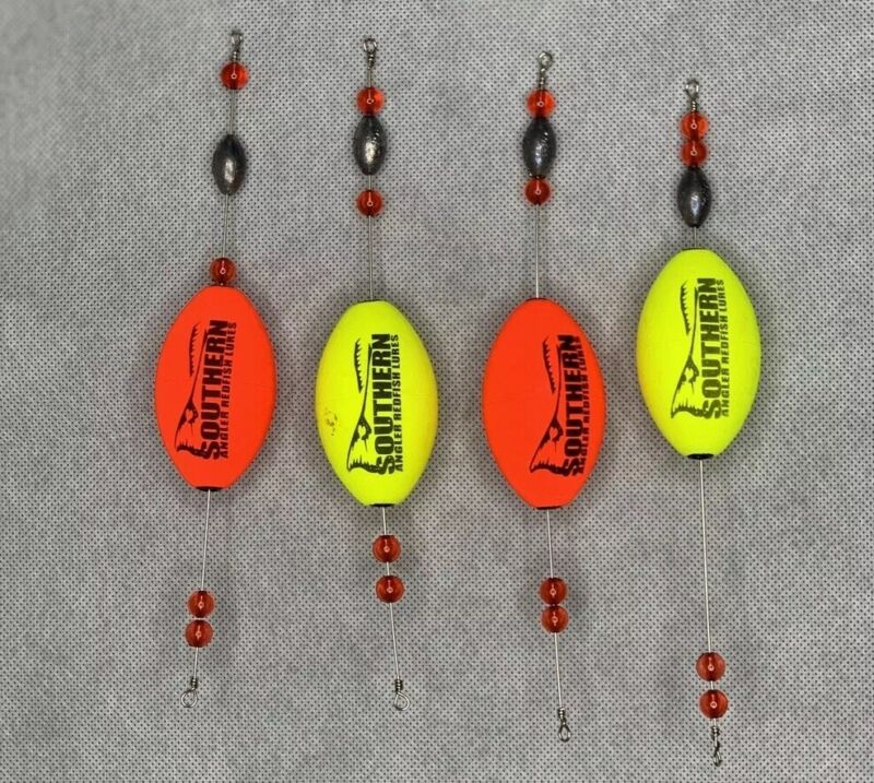 Fishing Popping Corks   Southern Angler Redfish Lot Of 4