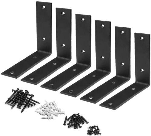 """6 Packs Corner Braces 5mm Thickness 6""""L x 6""""H x 1½""""W Iron Right Angle L Bracket"""