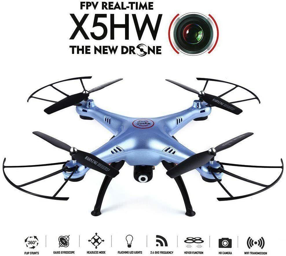 Syma X5HW WiFi FPV 2.4G 4CH RC 6 Axis Gyro Quadcopter Drone With 0.3MP HD Camera