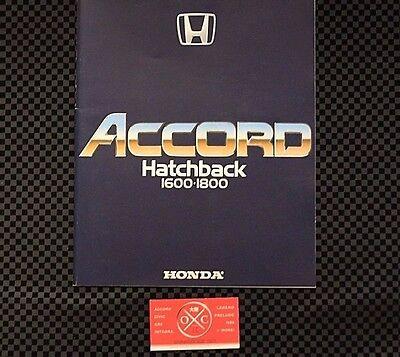 1G Honda Accord Catalog Hatchback JDM 1976-81 77 78 79 80 Rare Brochure CVCC-II