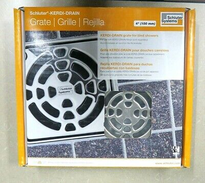 Schluter-Kerdi-Drain Grate for Tiled Showers 4
