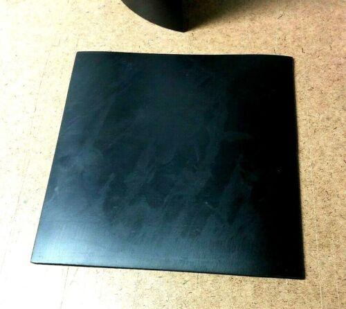 "Neoprene Rubber Solid Flex Sheet 1/8"" Thick x 8"" x 8"" Sq Pad  60 Duro Std"