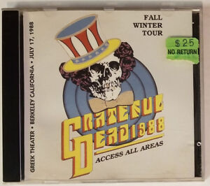 GRATEFUL DEAD -CD- Greek Theater 7/17/88 Berkeley, CA - LIVE GD!