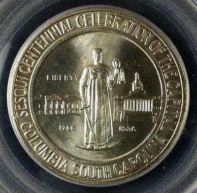 1936 D 50c Columbia Commemorative Silver Half Dollar PCGS MS66