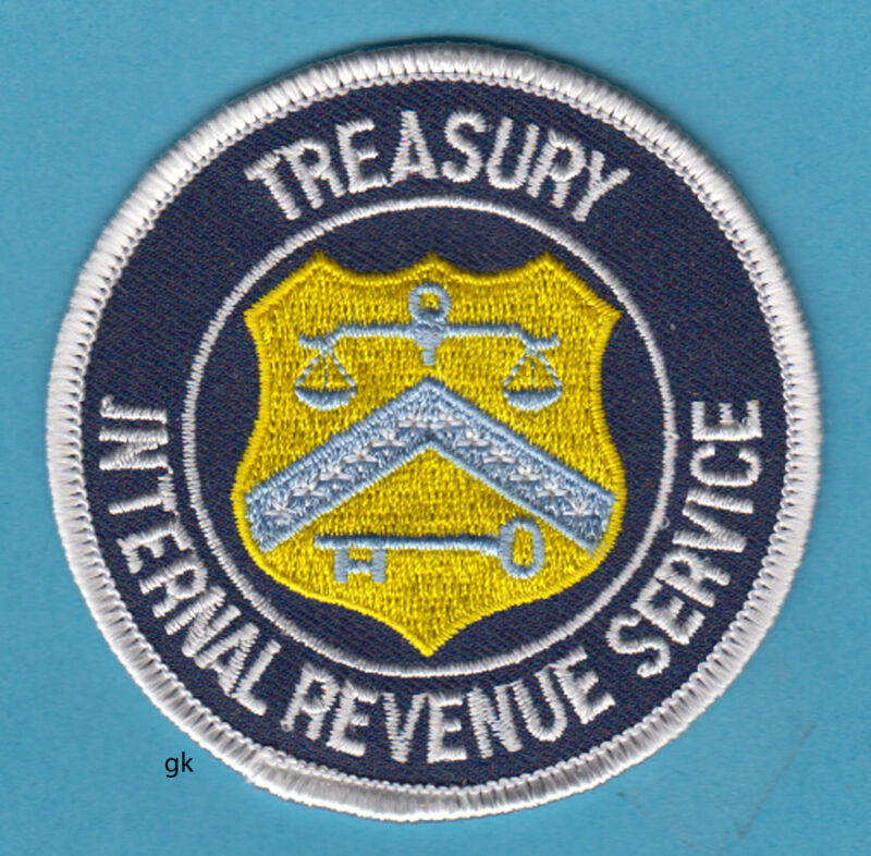 INTERNAL REVENUE SERVICE  DEPARTMENT OF THE TREASURY SHOULDER PATCH.  IRS