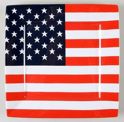 222 Fifth AMERICAN FLAG Square Dinner Plate 10924598