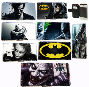 Comic-Batman-Joker-leather-card-wallet-flip-phone-case-for-Iphone-4-4s-5-5s-5c