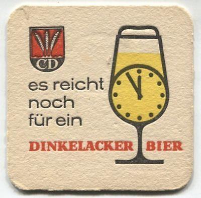 Alter Bierdeckel - es reicht noch für ein Dinkelacker Bier