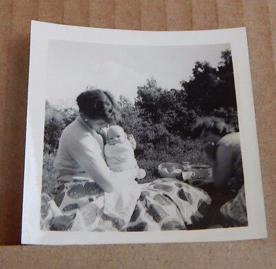 Photograph Social History woman with Baby New Look Fashions 1950's