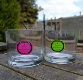 Individually priced glass candle / diffuser jars