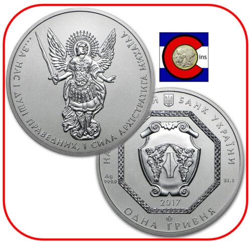 2017 Ukraine Archangel Michael Silver 1 oz Coin in original capsule
