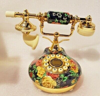 Decorative Telephone French Fancy Porcelain Kirch NIB Push Button