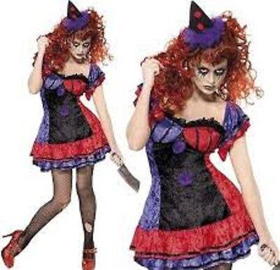 Sexy adult Halloween Costumes Womens Fancy Dress Boob horror clown ladies  - Halloween Ladies Clown Costumes