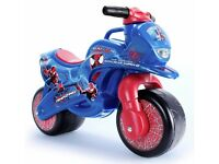 spiderman toddlers/baby ride on bike in good condition