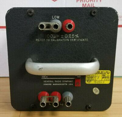 General Radio 1482-b Primary Standard Inductor 100 H 1482b L3