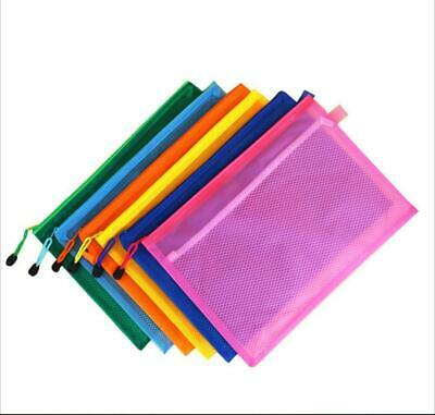 25pcs A5a4 Zipper Document Zip Bag Storage Wallet File Folder Organizer Us