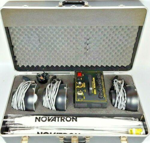 Novatron V600 3 Head Studio Lighting System , 3 stands, 2 umbrellas, case,cables
