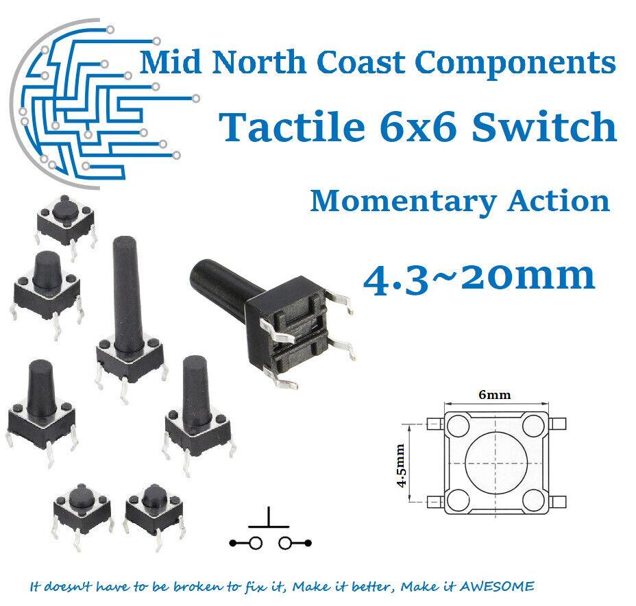 20 Pcs 4.8x3.8mm 4 Pin SPST Momentary Push Button Mini SMD SMT Tactile Switch