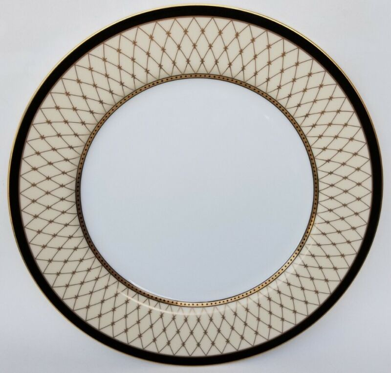 """FITZ & FLOYD """"CHAUMONT CREME"""" 10 3/8"""" DINNER PLATE - 3 AVAILABLE"""