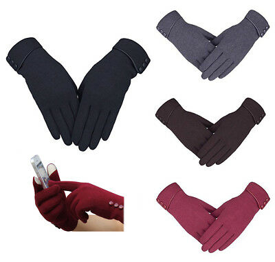 Womens Warm Smart Touch Screen Gloves for Smartphone windproof driving gloves
