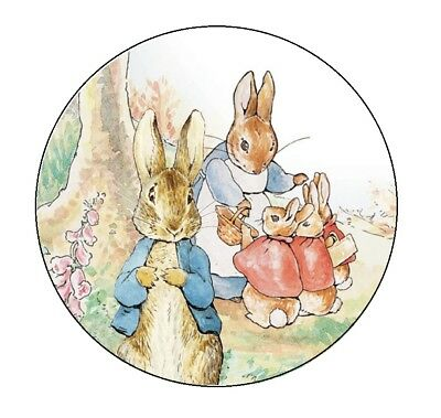 PETER RABBIT BIRTHDAY ROUND PARTY STICKERS LABELS FAVORS ~ VARIOUS SIZES](Peter Rabbit Party Supplies)