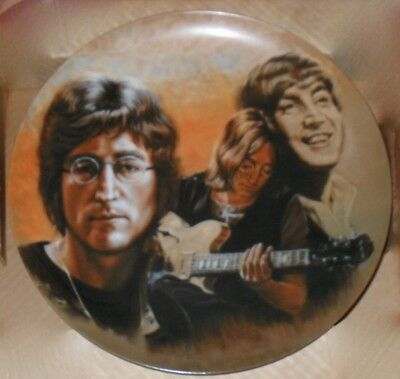 Limited edition collector's plate dedicated to John Lennon