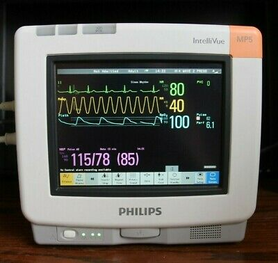 Philips Intvue Mp5 Patient Monitor Ecg Spo2 Nibp Temp Recorder Cert Free Fedex