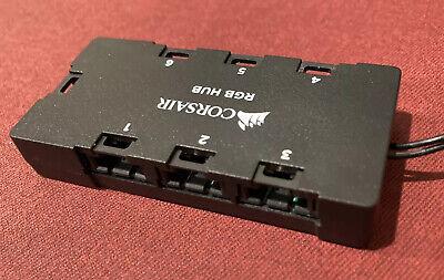 New Corsair CO-8950020 6-Port RGB LED Hub for Corsair RGB Lightning Node iCue