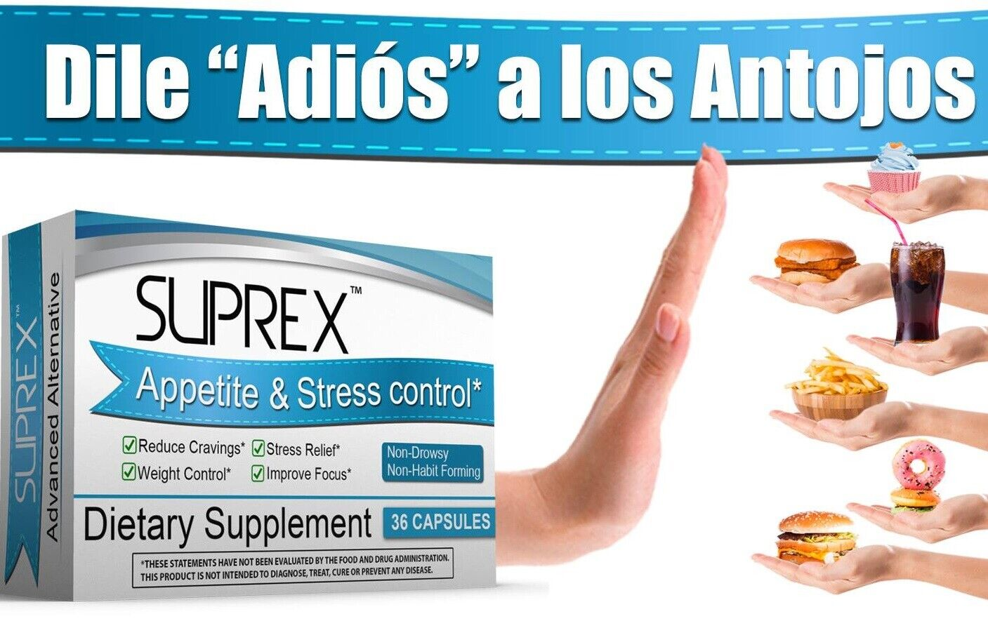 Suprex Appetite & Stress control Stress Relief Mood Appetite Control gluten % of 2