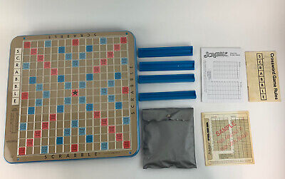 Selchow & Righter 1977 Scrabble Deluxe Edition Turntable Vintage Letters