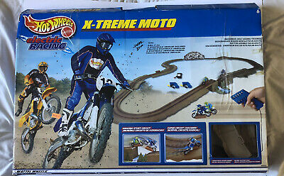 Hotwheels Extreme Moto Racing For PARTS AS IS No Bikes Track Incomplete