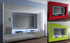wohnwand design modern led beleuchtung hochglanz concept orion lofter mediawand ebay. Black Bedroom Furniture Sets. Home Design Ideas